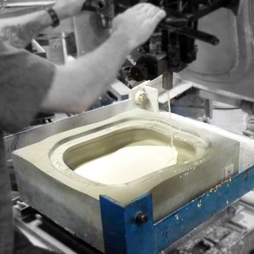 pouringmoldedfoam